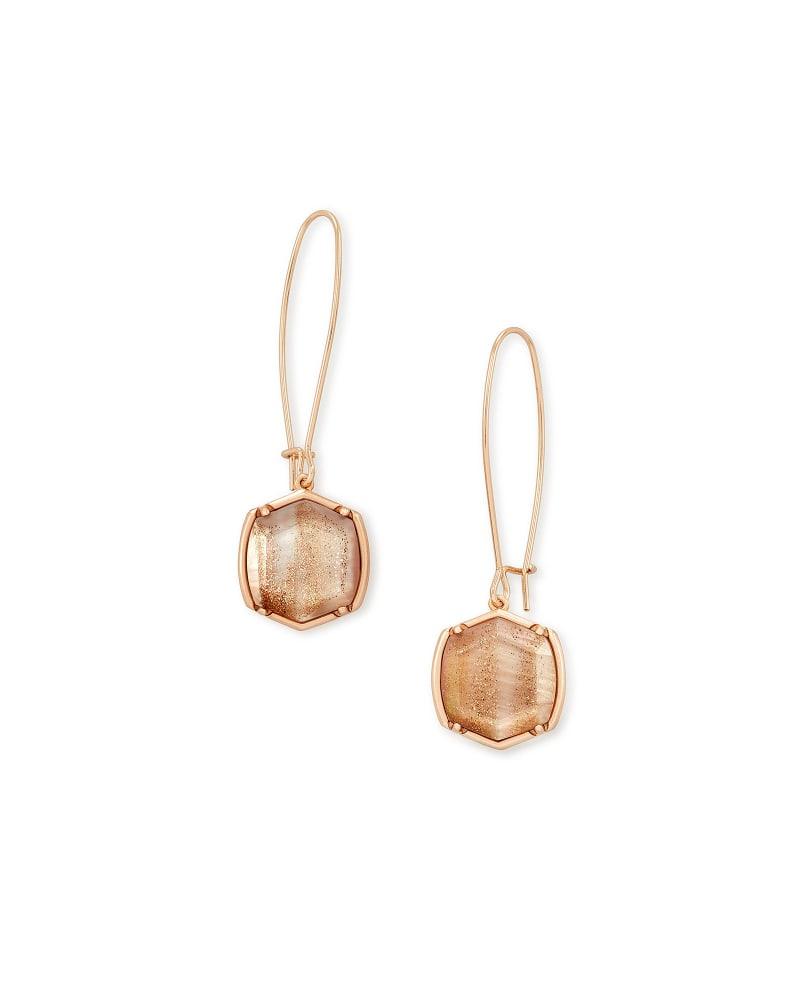 Davis Rose Gold Drop Earrings