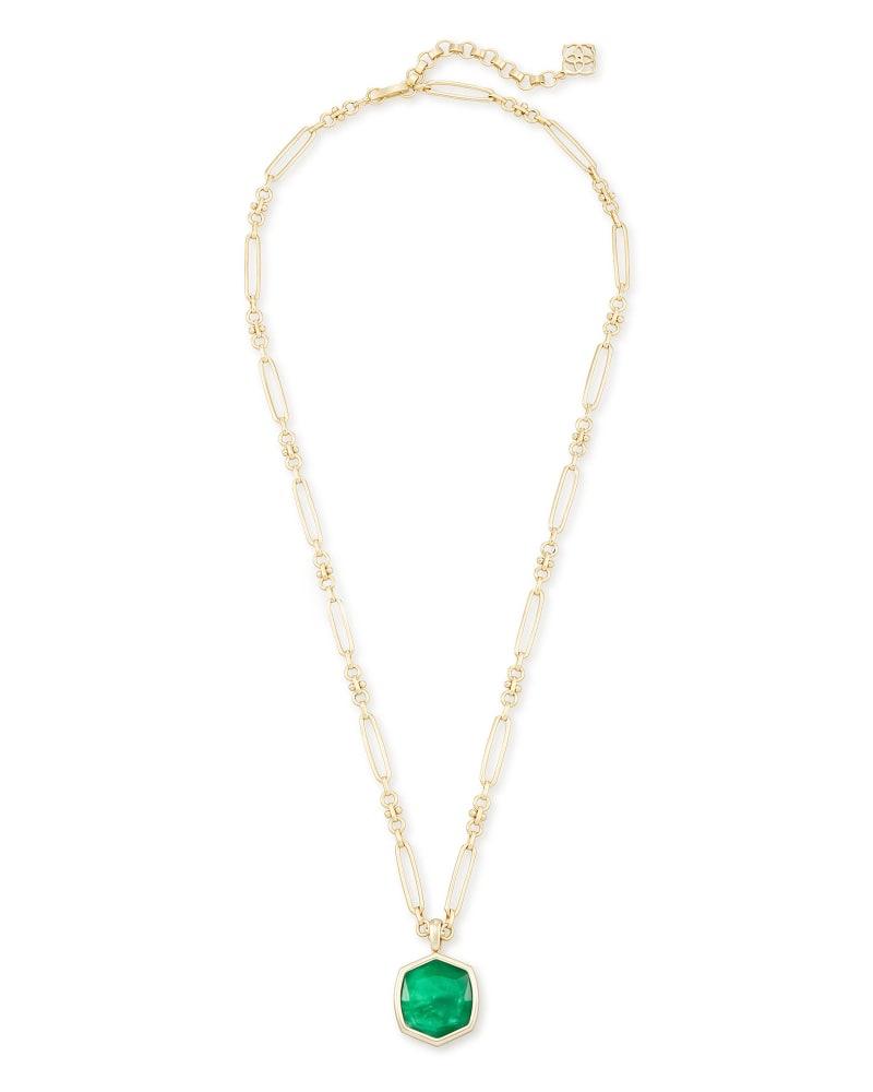 Davis Gold Pendant Necklace