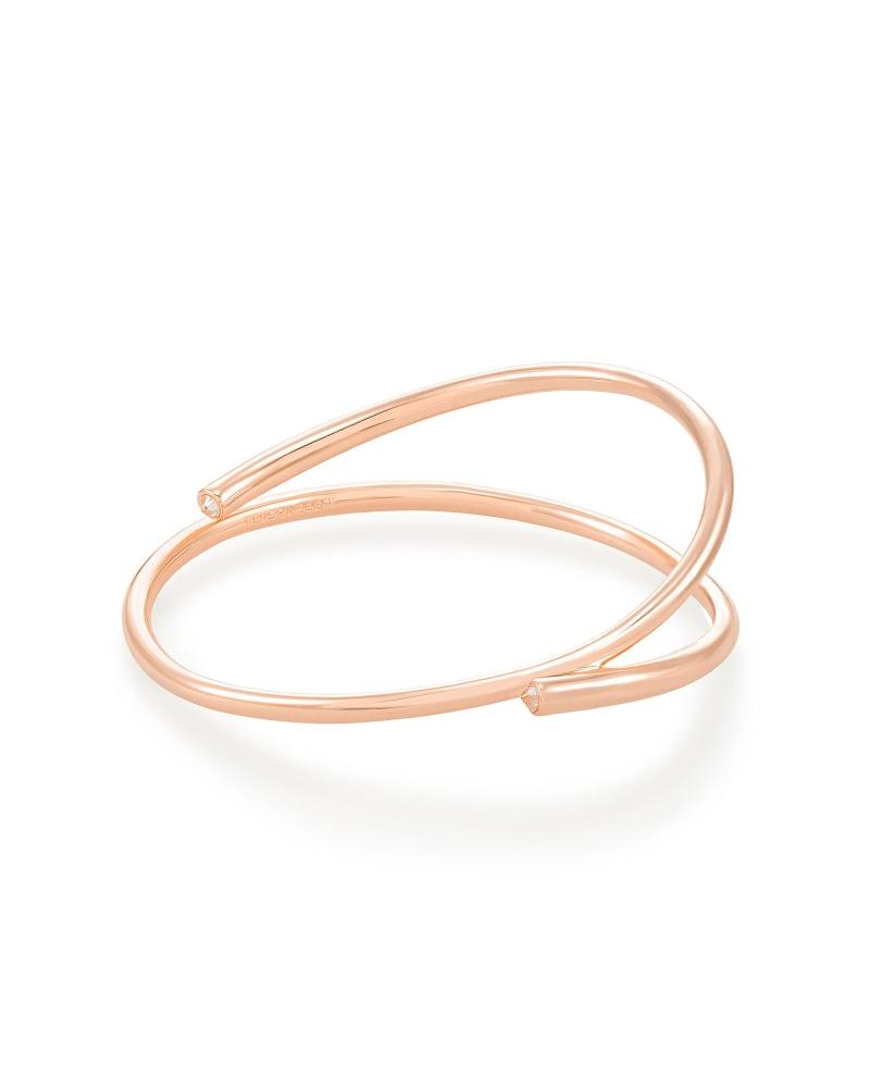 Myles Bangle Bracelet in Rose Gold