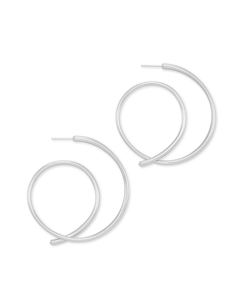 Myles Hoop Earrings in Silver