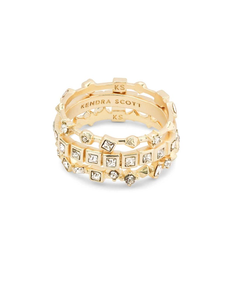 Karis Gold Stackable Ring Set