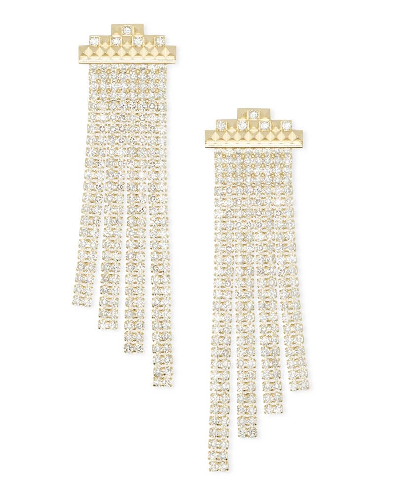 Vienna Statement Earrings in Gold