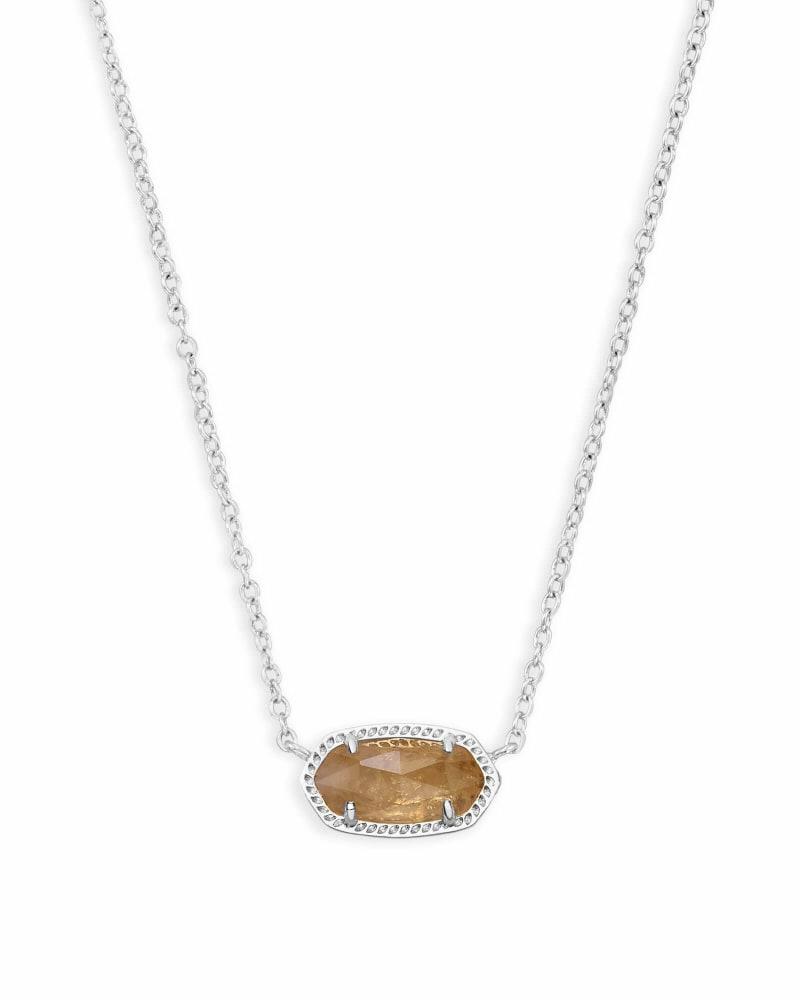 Elisa Silver Pendant Necklace in Citrine