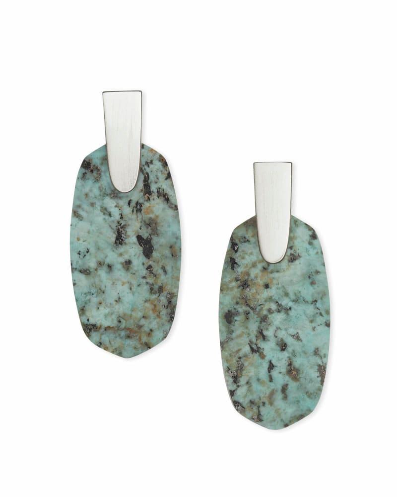 Aragon Silver Drop Earrings in African Turquoise