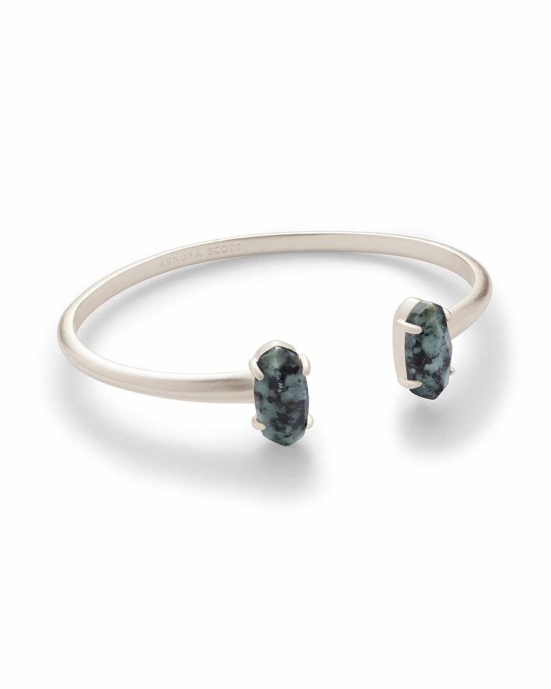 Edie Silver Bracelet in African Turquoise