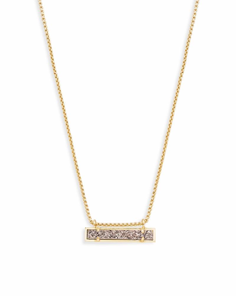 Leanor Gold Pendant Necklace in Platinum Drusy | Kendra Scott
