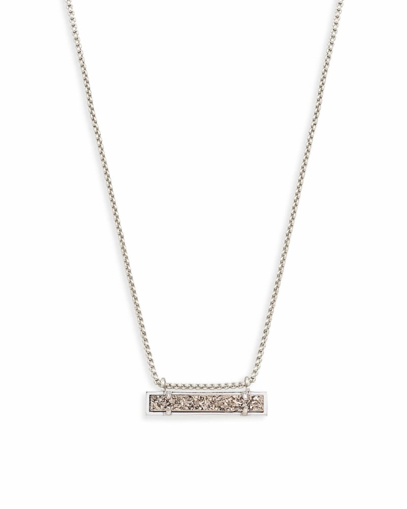 Leanor Silver Pendant Necklace in Platinum Drusy | Kendra Scott