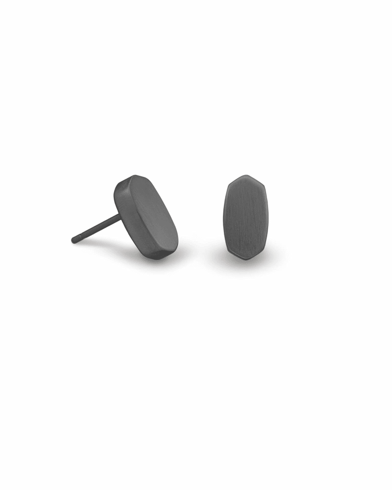 Barrett Stud Earrings in Gunmetal