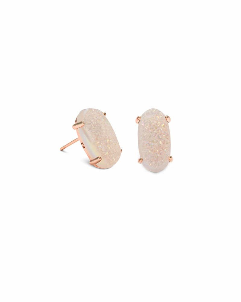 Betty Stud Earrings in Rose Gold