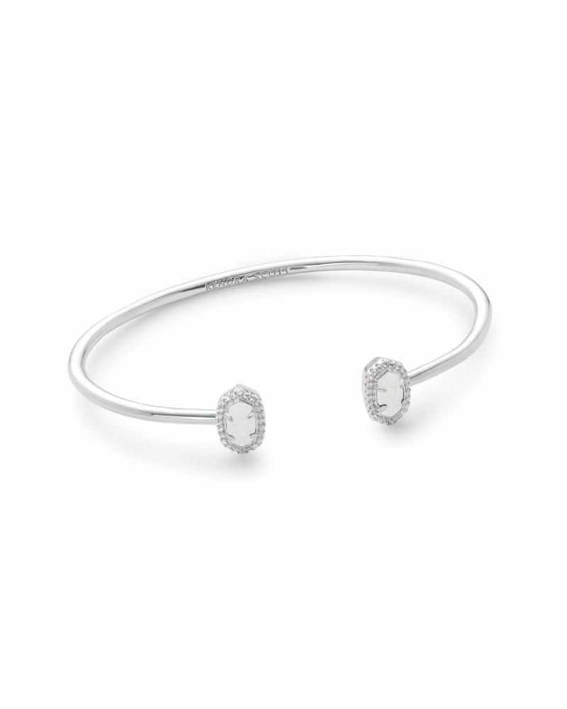 Calla Cuff Bracelet in Silver