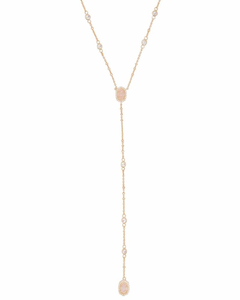 Claudia Lariat Necklace in Gold