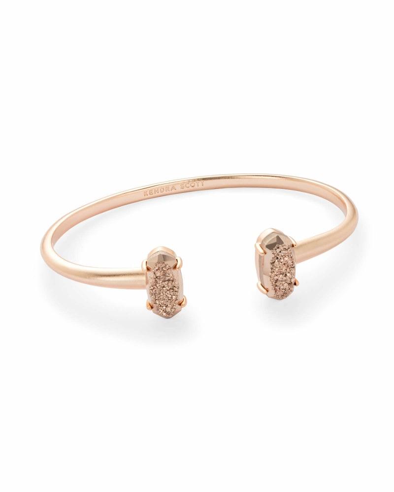 Edie Rose Gold Cuff Bracelet in Rose Gold Drusy