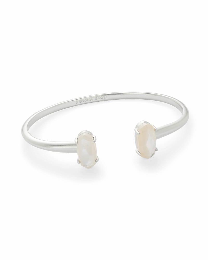 Edie Silver Bracelet in Ivory Pearl