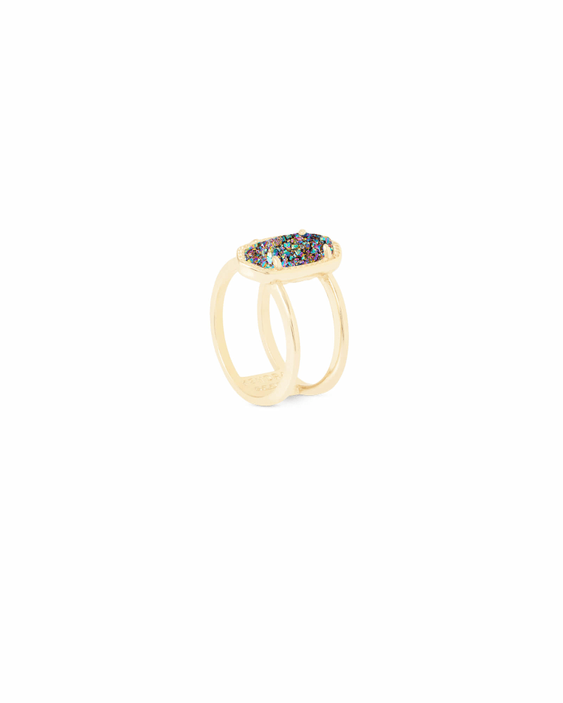 Elyse Ring in Multicolor Drusy