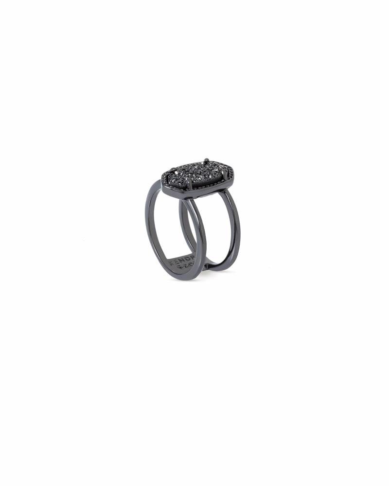 Elyse Ring in Gunmetal