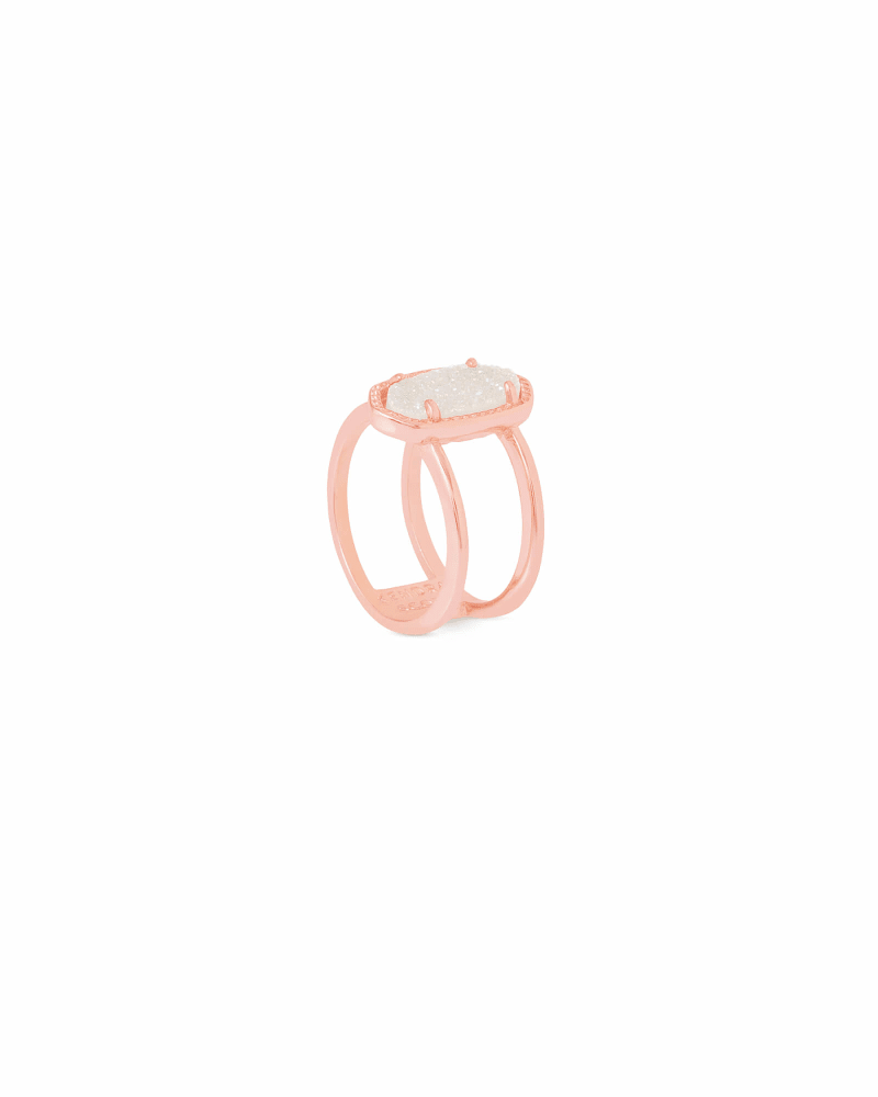 Elyse Rose Gold Ring in Iridescent Drusy