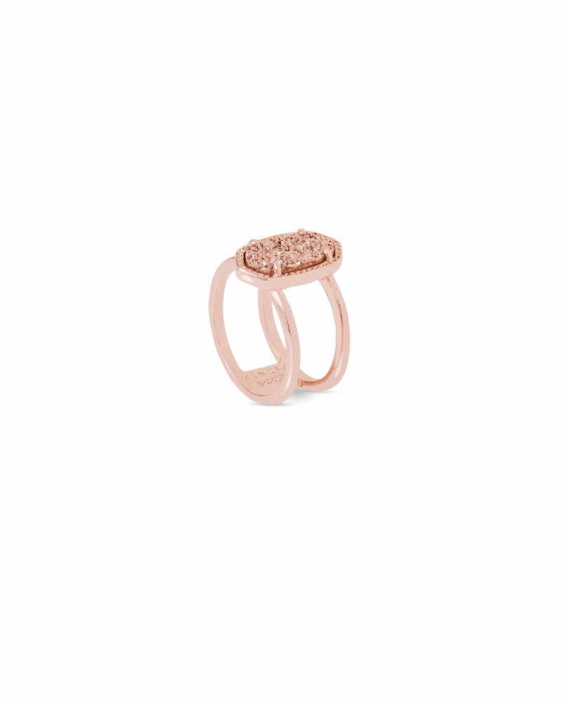 Elyse Rose Gold Ring in Rose Gold Drusy