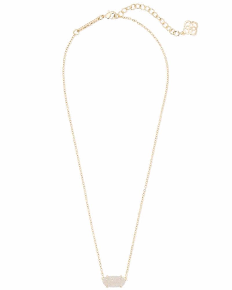 Ever Gold Pendant Necklace in Iridescent Drusy