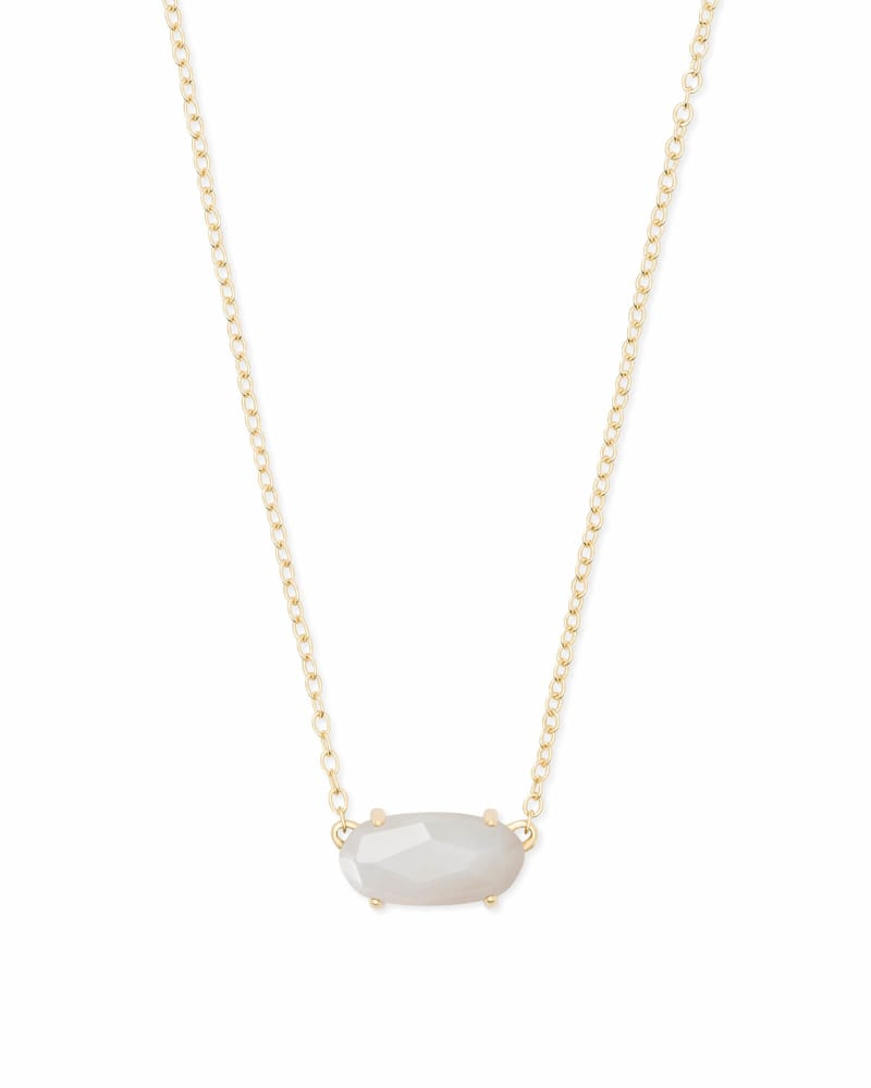 Ever Gold Pendant Necklace in Ivory Pearl