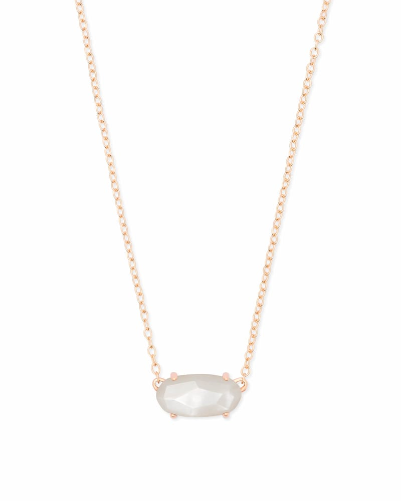 Ever Rose Gold Pendant Necklace In Ivory Pearl Kendra Scott