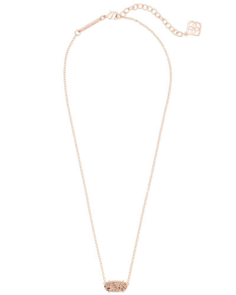 Ever Rose Gold Pendant Necklace in Rose Gold Drusy