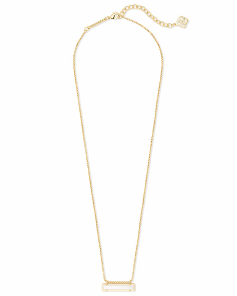 Leanor Gold Pendant Necklace in Ivory Pearl