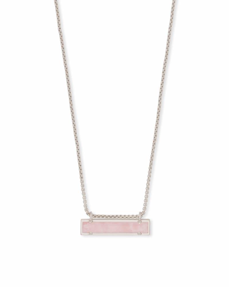 Bar Necklace The Rose Quartz Collection