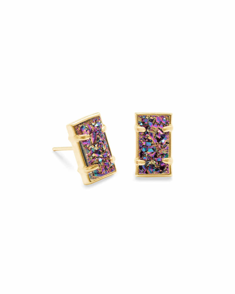 Paola Stud Earrings in Gold