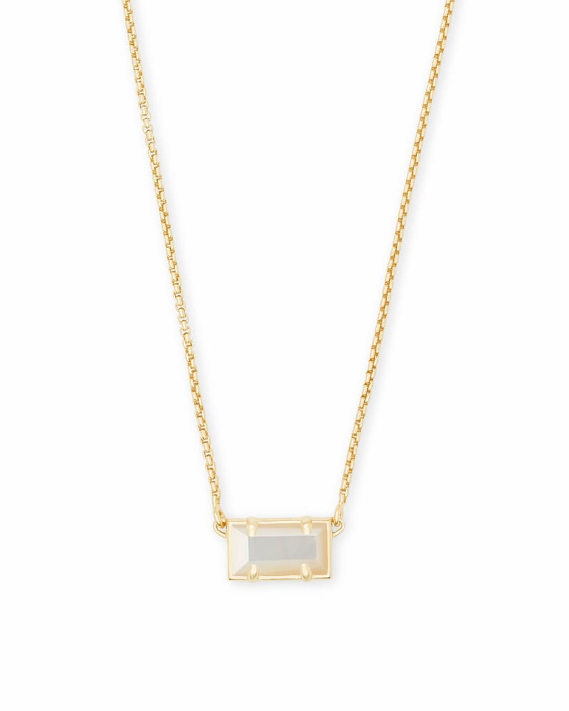 Pattie Gold Pendant Necklace In Ivory Pearl