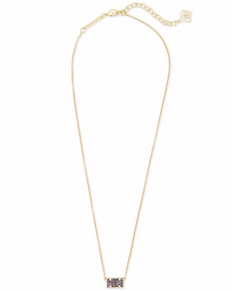 Pattie Gold Pendant Necklace In Multicolor Drusy