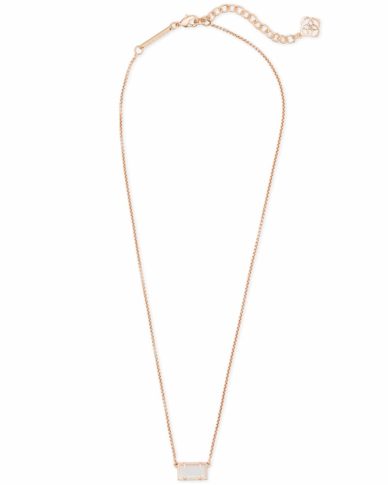 Pattie Pendant Necklace in Rose Gold