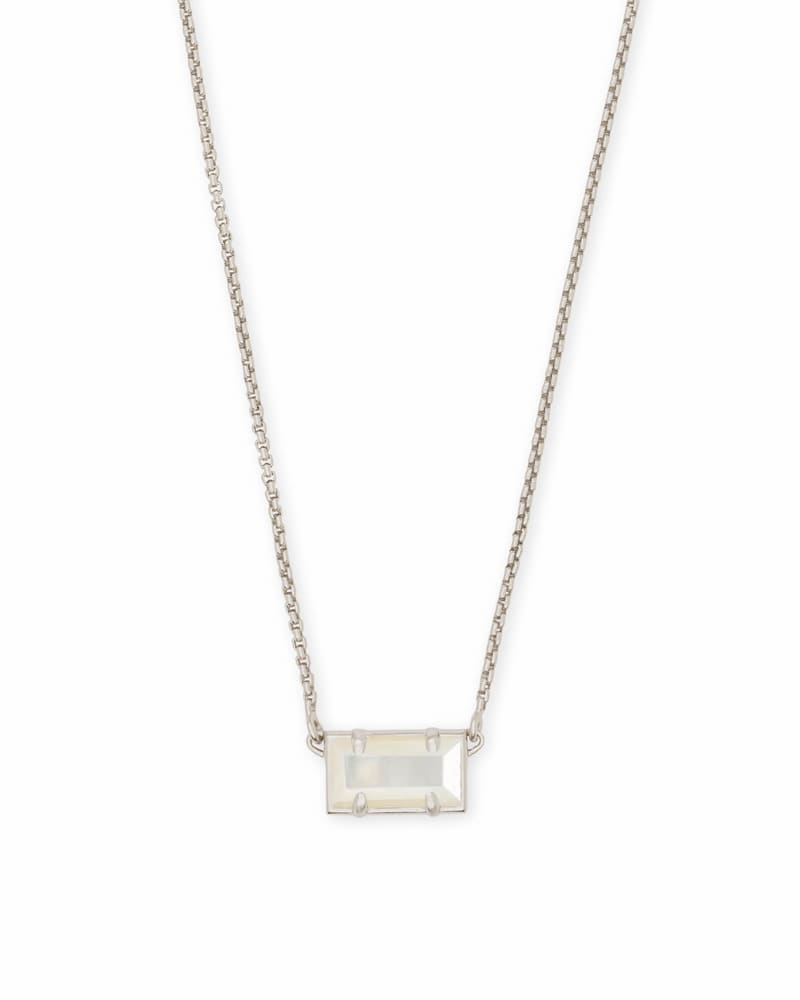 Pattie Silver Pendant Necklace In Ivory Pearl