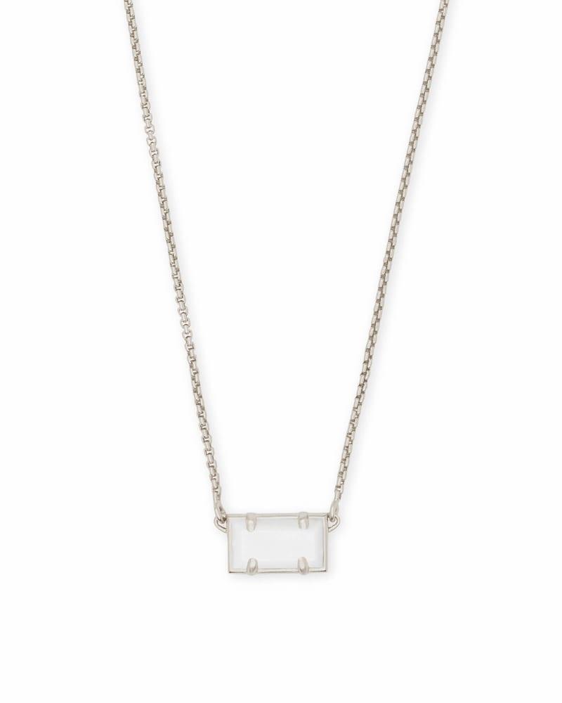 Pattie Silver Pendant Necklace In White Pearl