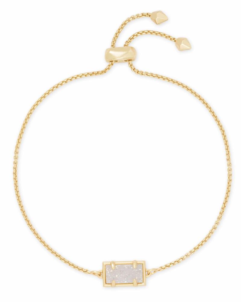 Phillipa Gold Chain Bracelet in Iridescent Drusy