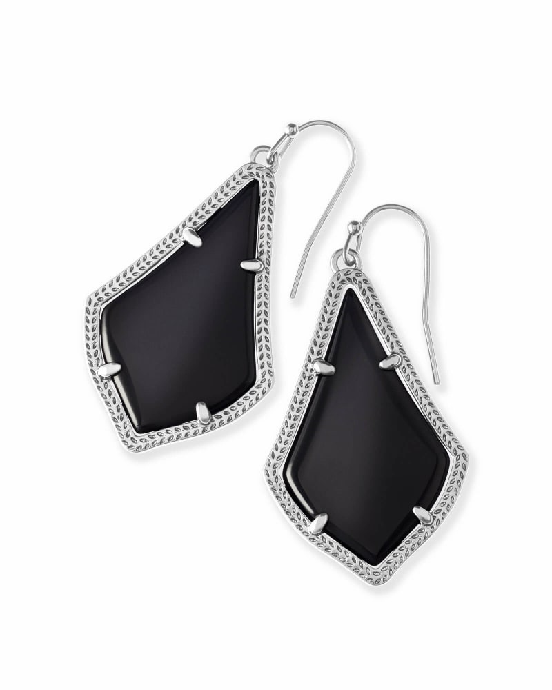 Alex Drop Earrings in Silver