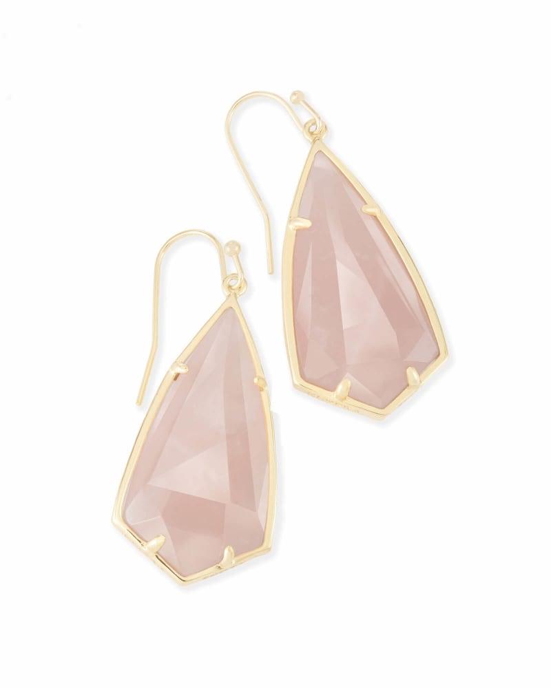 Carla Drop Earrings Rose Quartz