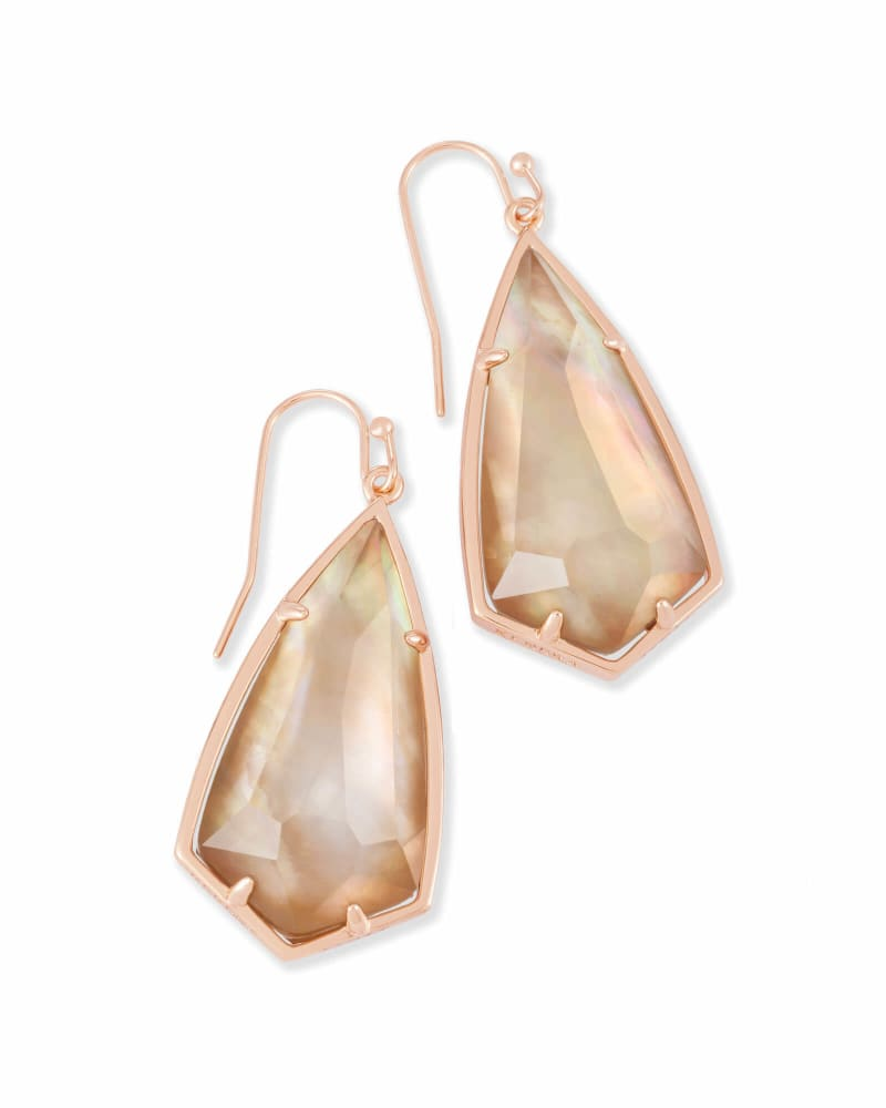 Carla Drop Earrings in Rose Gold
