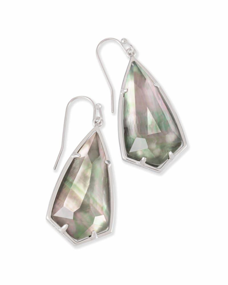 Carla Drop Earrings in Silver