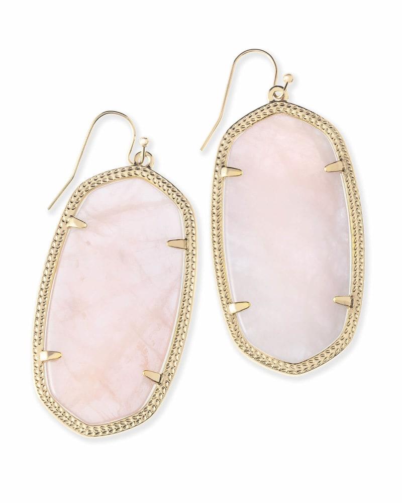 Danielle Earrings in Rose Quartz
