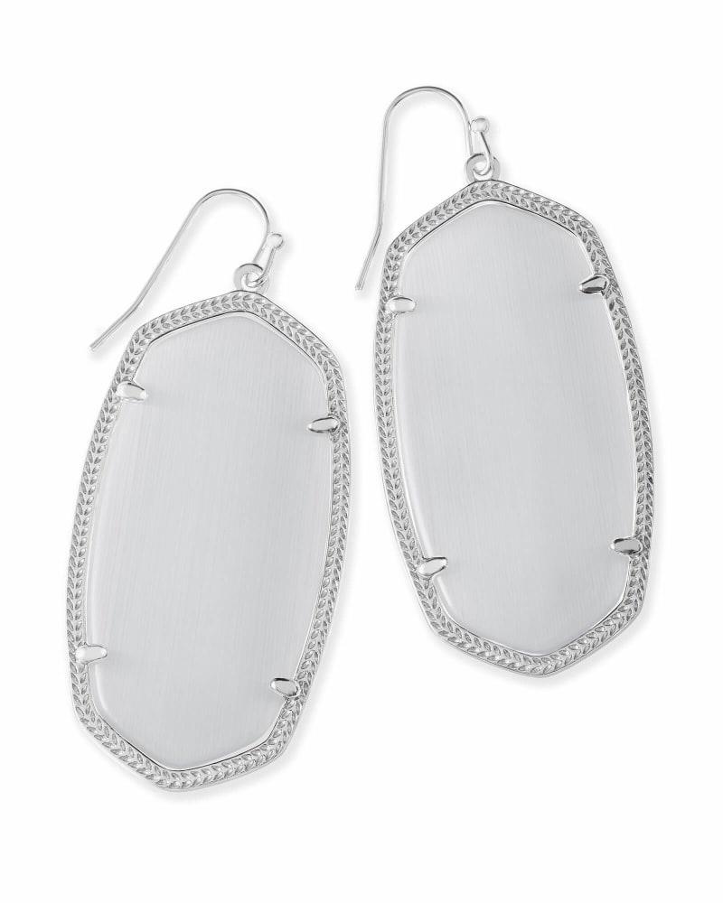 Danielle Statement Earrings in Silver