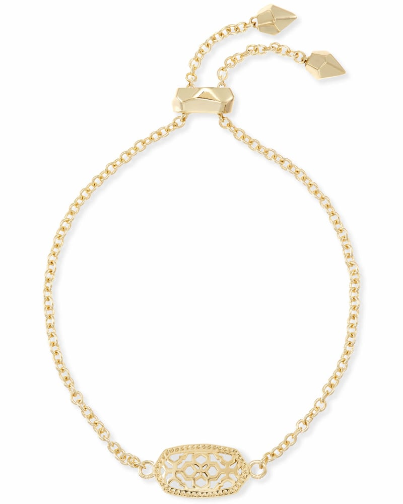 Elaina Gold Adjustable Chain Bracelet in Gold Filigree Mix