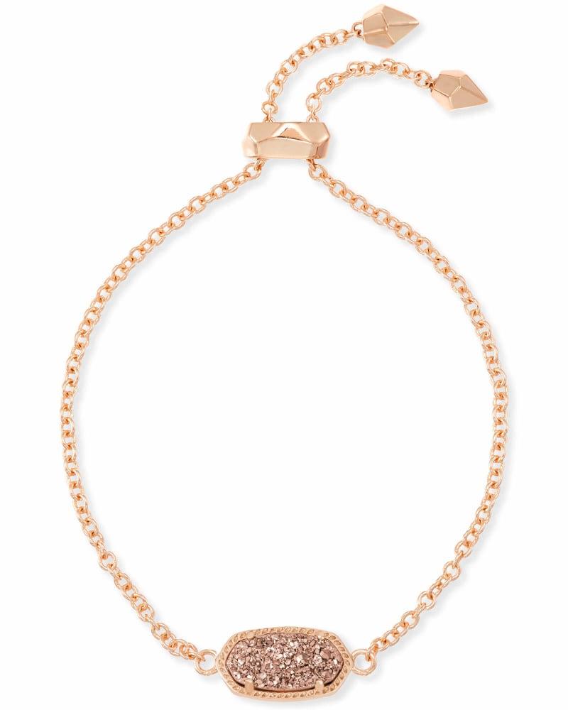 Elaina Rose Gold Adjustable Chain Bracelet in Rose Gold Drusy   Kendra Scott