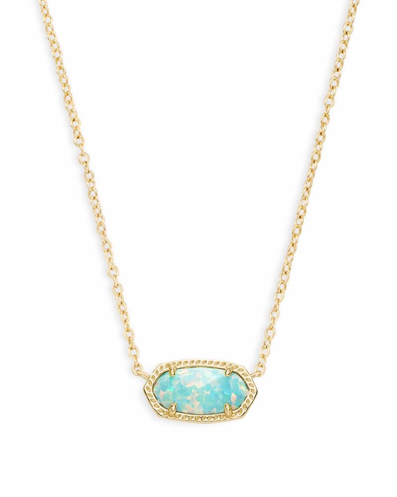 Elisa Pendant Necklace in Aqua Kyocera Opal