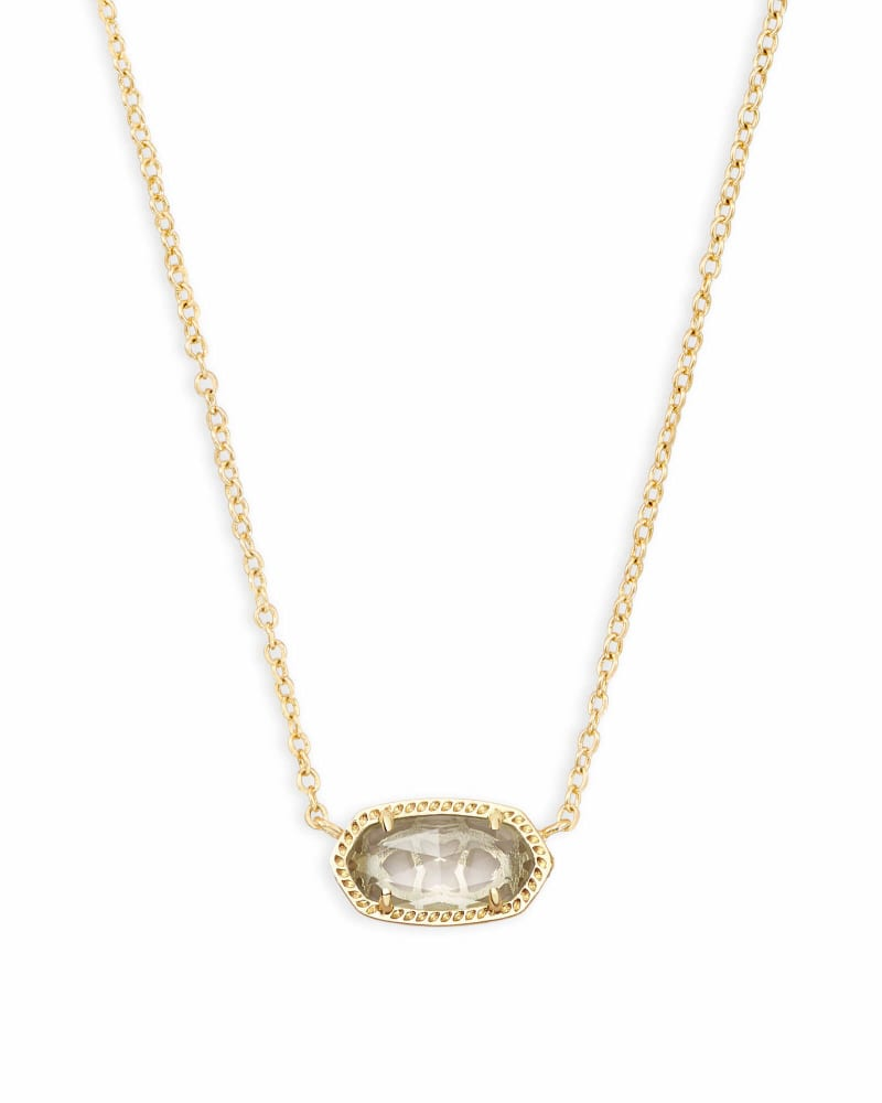 Elisa Pendant Necklace in Clear Crystal