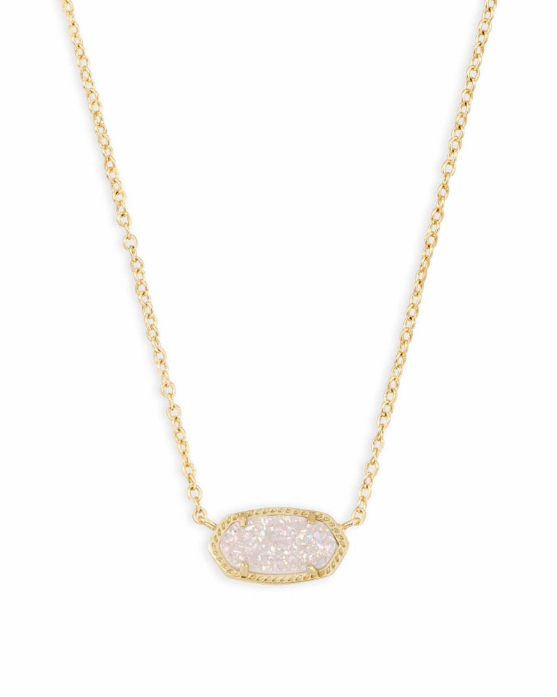 Elisa Gold Pendant Necklace in Iridescent Drusy   Kendra Scott