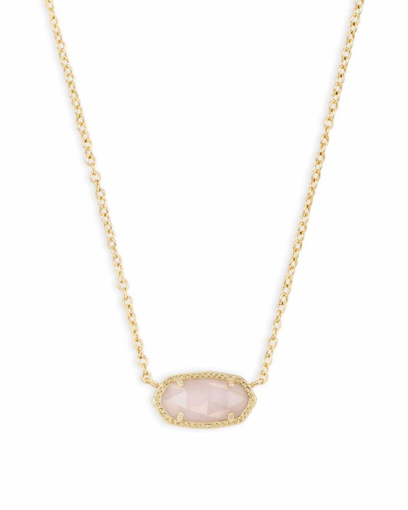 Elisa Pendant Necklace in Rose Quartz   Kendra Scott