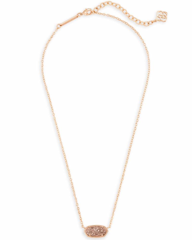 Elisa Pendant Necklace in Rose Gold