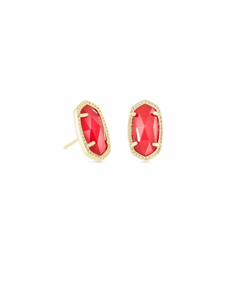 Ellie Stud Earrings in Bright Red