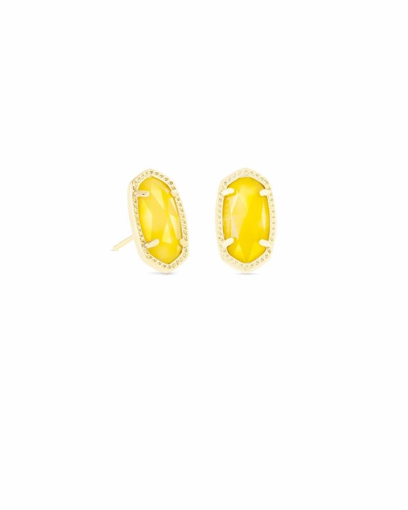 Ellie Stud Earrings in Yellow