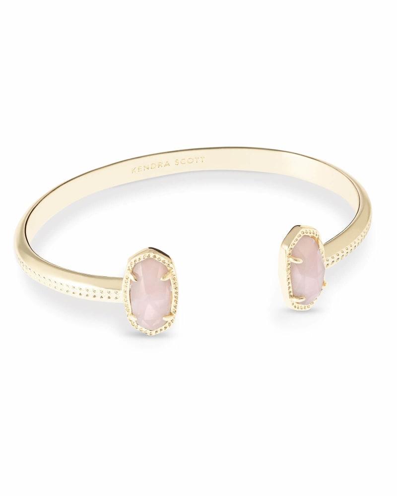 Elton Gold Cuff Bracelet in Rose Quartz | Kendra Scott
